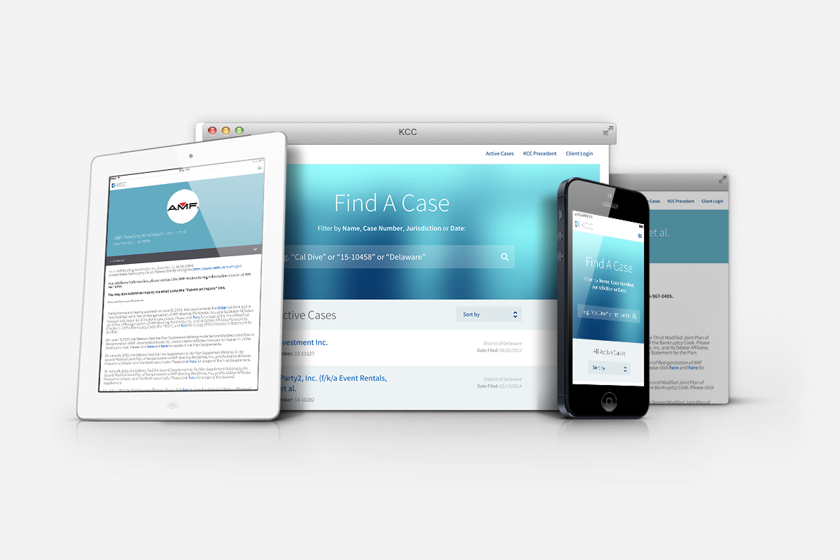 image of KCC website designs as viewed on apple devices